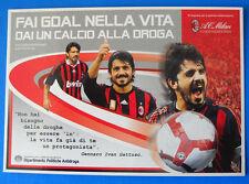 CARTOLINA PROMOCARD N.8989 - MILAN - GATTUSO - FAI GOAL NELLA VITA DAI UN...