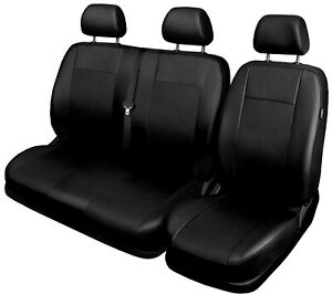Van seat covers comfort fit Mercedes Vito leatherette black