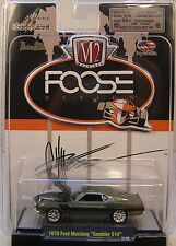 M2 MACHINES DIECAST METAL CHIP FOOSE SERIES 1:64 SCALE GREEN 1970 FORD MUSTANG