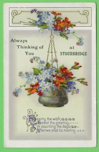 Unposted vintage card. ALWAYS THINKING OF YOU AT STOURBRIDGE.