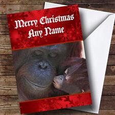 Orangutan Personalised Christmas Greetings Card