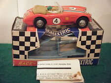 """Scalextric no: C93 """"austin healey (race tuned)"""" - rouge (boxed)"""