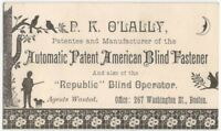 1880s American Victorian Patent Window Blind Fastener Business Card