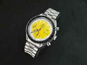 OMEGA SPEEDMASTER SCHUMACHER REDUCED CHRONOGRAPH YELLOW DIAL  AUTOMATIC 175.0032
