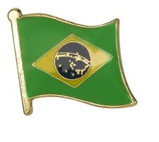 Brazil Flag Pin Lapel Badge República Federativa do Brasil Quality Gloss Enamel