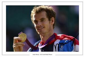 ANDY MURRAY SIGNED PHOTO PRINT AUTOGRAPH TEAM GB OLYMPICS TENNIS