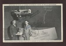 WORLDS FAIR 1934 RP PPC LAST FLIGHT SIGNED ADAMS+GERBER