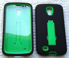 Samsung Galaxy S4 ACTIVE i9295 SGH-I537 Phone Case sBLK/GRN with BUILT IN SCREEN