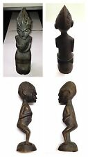 Antique Figure Hand-Carved Africa Wooden Figure Lombou African Wood Sculpture