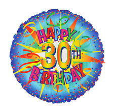 "HAPPY 30th BIRTHDAY Helium Foil Balloon 18"" - Party Decoration Gift - Free Post"