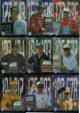 ^1996 Press Pass F. Q. S. Complete 9 card DRIVER set BV$90! Earnhardt, Gordon