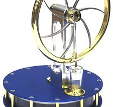 Anodized Blue Stirling Engine READY IN GIFT BOX hotair