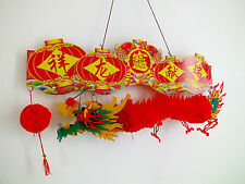 CHINESE XL 60CM PVC RED HANGING LUCKY HANGING DRAGON WEDDING BIRTHDAY PARTY