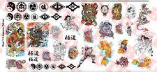 1/6 Scale Custom Tattoos: Japanese and Yakuza Variety Pack - Waterslide Decals