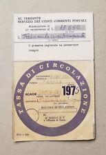 66688 80 Bollo auto Tassa di circolazione 1975 - Fiat 1500