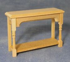 1:12 Scale Natural Finish Wooden Hall Side Table Dolls House Miniature BEF 108