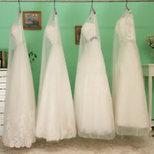 10x Bridal Gown Wedding Dress Garment Bag Covers Dustproof Sheer Mesh Protector