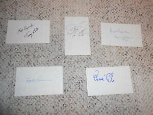 5 SIGNED CHAMPIONS OF MEN'S U.S. OPEN GOLF INDEX CARDS