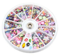 Decoration Manicure Wheel Mixed 1200pcs Nail Art Tips Glitters Rhinestones Slice