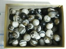 "Agate Marbles 6 Of 3/4 to 7/8"" Mostly Banded Bulls Eyes Vintage Natural Gemstone"