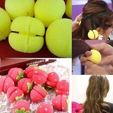6 × Schwamm Lockenwickler Papilotten Haarwickler Frisur Haartwister Flexible Hot