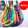 Hot Aluminum Carabiner Snap Loaded Clip Karabiner Locking Hook Keychain 5/10Pcs