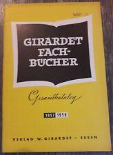 Girardet Fachbücher Gesamtkatalog 1957/58