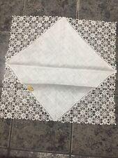 Vtg Linen Austria Handkerchief Hankie White Wedding 11 1/2� Org Sticker