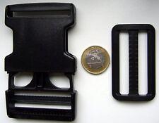 2 x Klickverschluß Steckschließer mit Schieber 50mm
