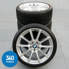 "GENUINE BMW 5 6 SERIES 20"" 281 M SPORT V SPOKE ALLOY WHEELS TYRES F10 F11 F12"