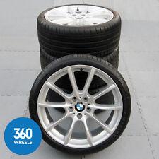 "GENUINE BMW 5 6 SERIES 20"" 281 M SPORT V SPOKE ALLOY WHEELS DUNLOP RSC TYRES"