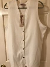 Bechemel Ladies White Vest Large, New W/tags