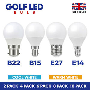 LED Golf Ball Bulbs B22 E14 E27 B15 5W Energy Saving Warm Cool Day Light A+