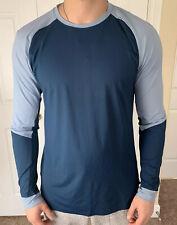 Lululemon Men Size XL Muscle Motion Long Sleeve Blue CHBY/NIDI Shirt Top Run