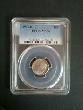 New listing 1946-D Silver Roosevelt Dime Ms66 Pcgs