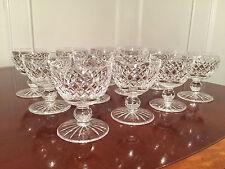 12 Signed WATERFORD ALANA CRYSTAL 4 oz Short Sherry Wine Goblets Dessert Glasses