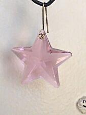 NEW: 40mm Pink Glass STAR PRISM ORNAMENT SUNCATCHER