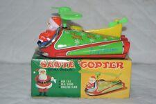 Masudaya Japan Space Ship Tin Toy Santa Copter Boxed