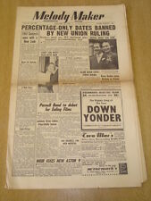 MELODY MAKER 1952 JANUARY 12 MUSICIANS UNION KAY BROWN PARNELL BAND EVE BOSWELL