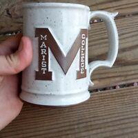 1970's Marist college Brown stonware Mug heavy