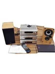 Denon DRA-F100 midi system/Mission speakers