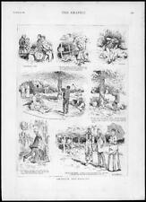 1887 Fine Art Impression antique-Vues de amateur Bee Keepers Keeping (241)
