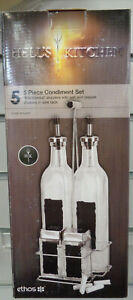 Ethos Hell's Kitchen 5 Piece Condiment Set with 'Blackboard' Drizzlers and Chalk