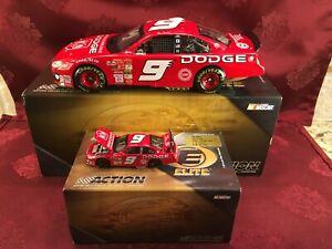 BILL ELLIOTT 2003 #9 Dodge Dealers 1/24 Elite Car & 1/64 Elite Car Diecast  SET