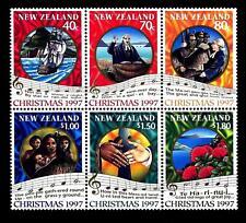 NEW ZEALAND - NUOVA ZELANDA - 1997 - Natale. Canti natalizi - blocco di sei