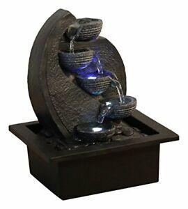 Zen'Light CASCADE-V2 Indoor Fountain, Polyresin, Black, 17 x 21 x 26 cm