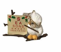 Vtg Hallmark Optometrist Owl Christmas Ornament 1997 Eye Doctor Glasses Holiday