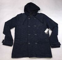 Billabong Mens Blue Corporal Button Down Hoodie Jacket Size S M L XL $65 F45 NWT