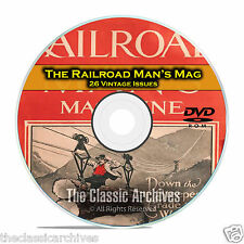 The Railroad Mans Magazine 26 Vintage Issues Railroad American History DVD C22