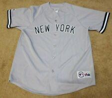 NEW YORK YANKEES MAJESTIC NY BASEBALL JERSEY XL MENS GREY BLANK BACK MLB